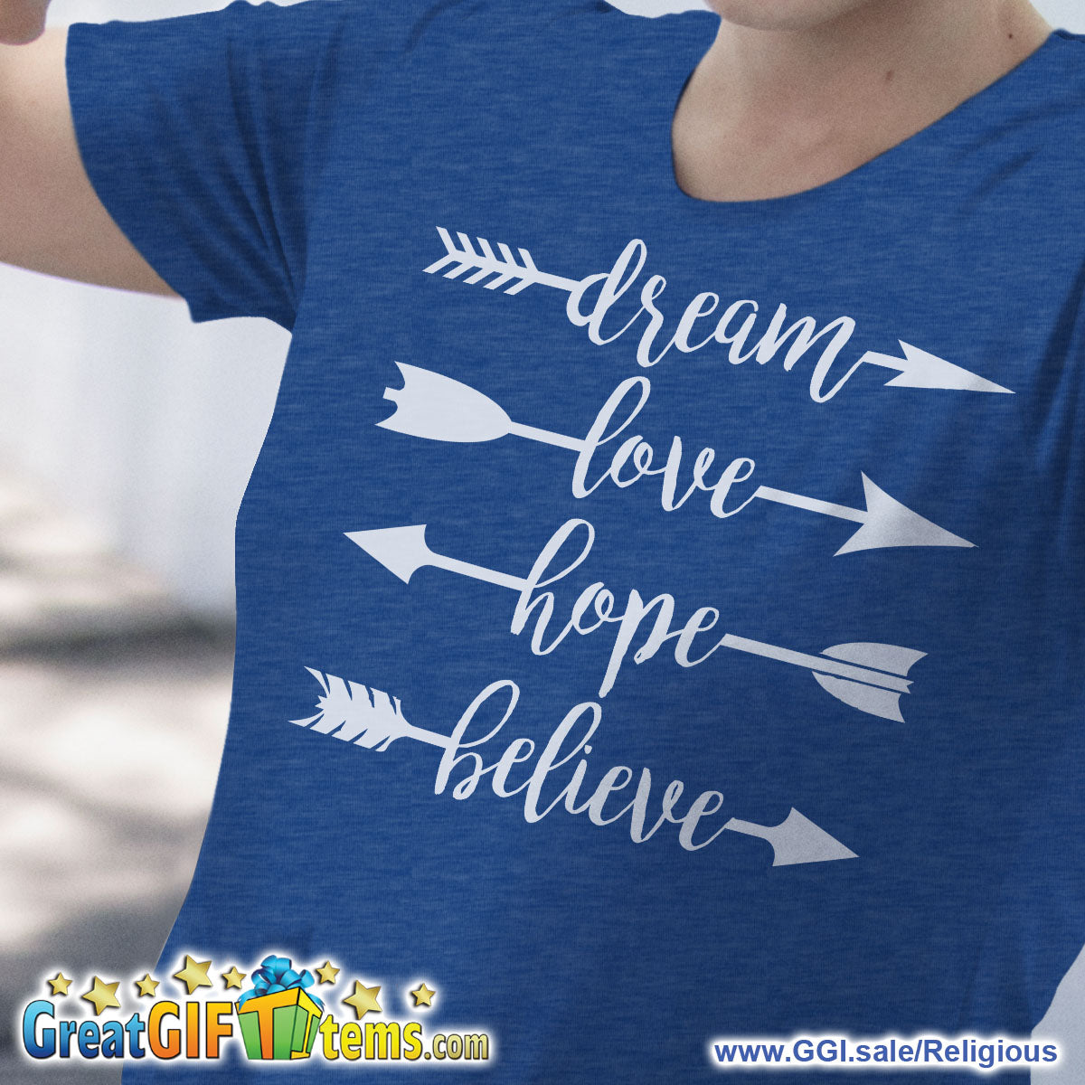 Dream Love Hope Believe Heather Color T-Shirt