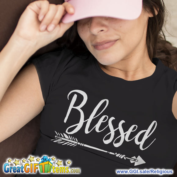 Blessed Straight Arrow Solid Color T-Shirt