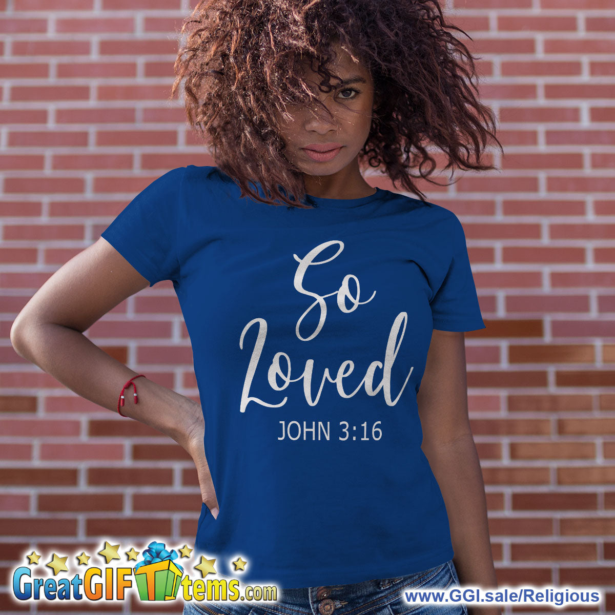So Loved John 3:16 Solid Color T-Shirt