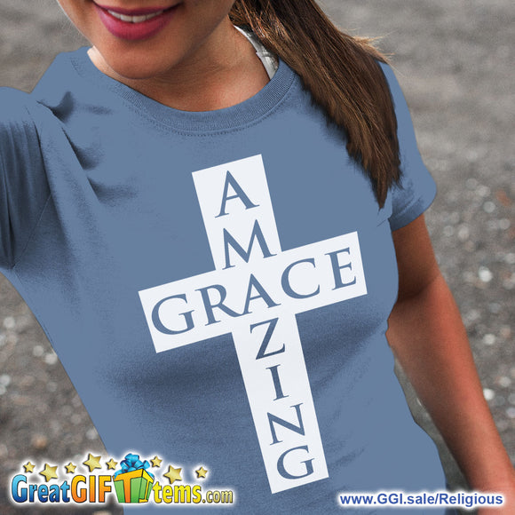 Amazing Grace Solid Color T-Shirt