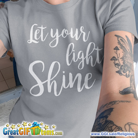 Let Your Light Shine Solid Color T-Shirt