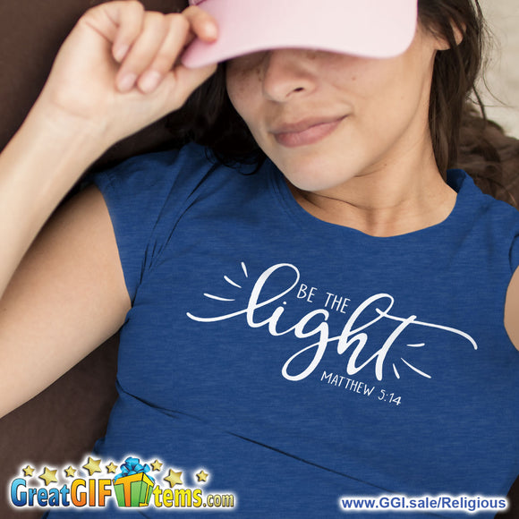 Be The Light Heather Color T-Shirt