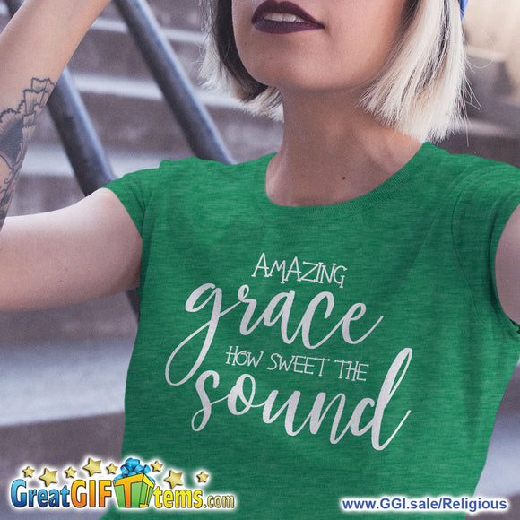Amazing Grace How Sweet The Sound Heather Color T-Shirt