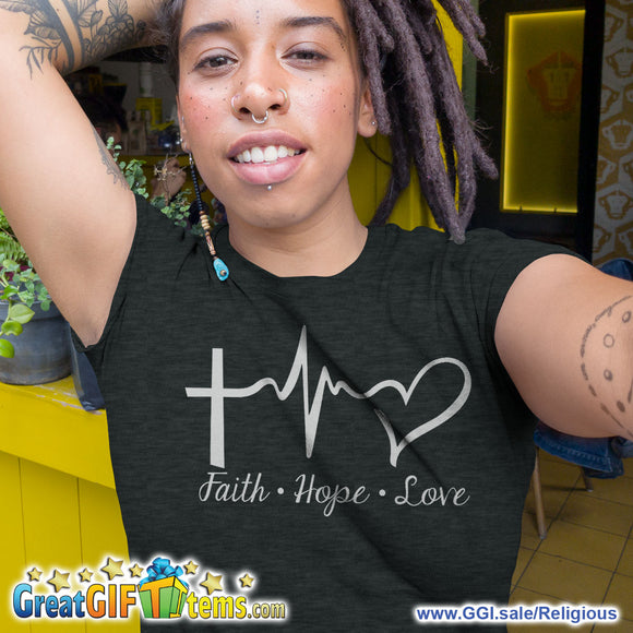 Faith Hope Love Heather Color T-Shirt