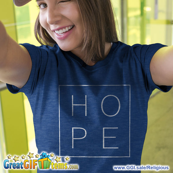 Hope On Four Corners Heather Color T-Shirts