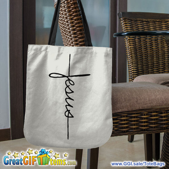 Jesus Canvas Tote Bag For Your Personal Belongings