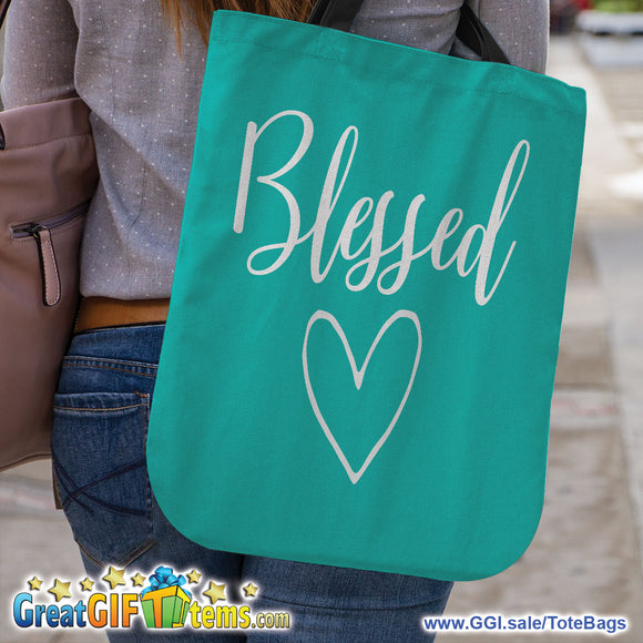 Blessed Canvas Tote Bag For Carrying Personal Belongings