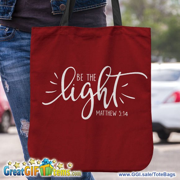 Be The Light Personal Canvas Tote Bag