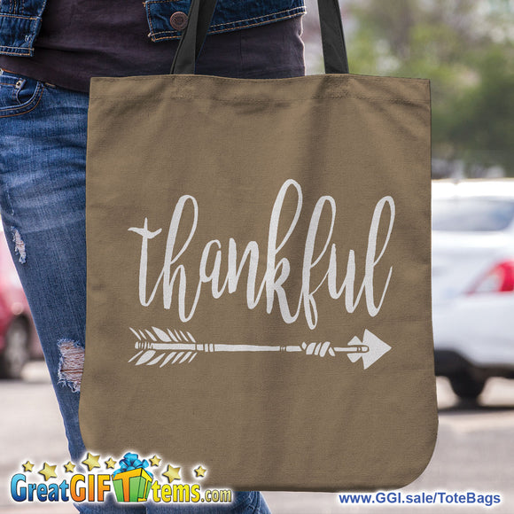 Thankful Personal Canvas Tote Bag To Carry Your Belongings