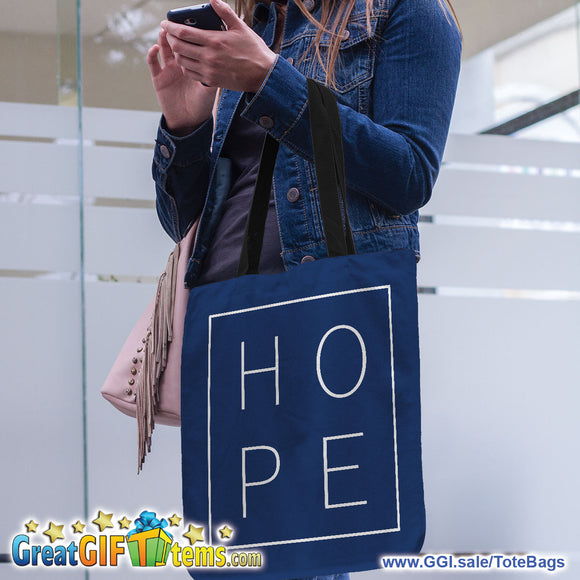 HOPE Canvas Tote Bag for Carrying Your Personal Belongings