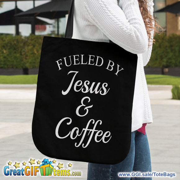 Fueled By Jesus And Coffee Canvas Tote Bag