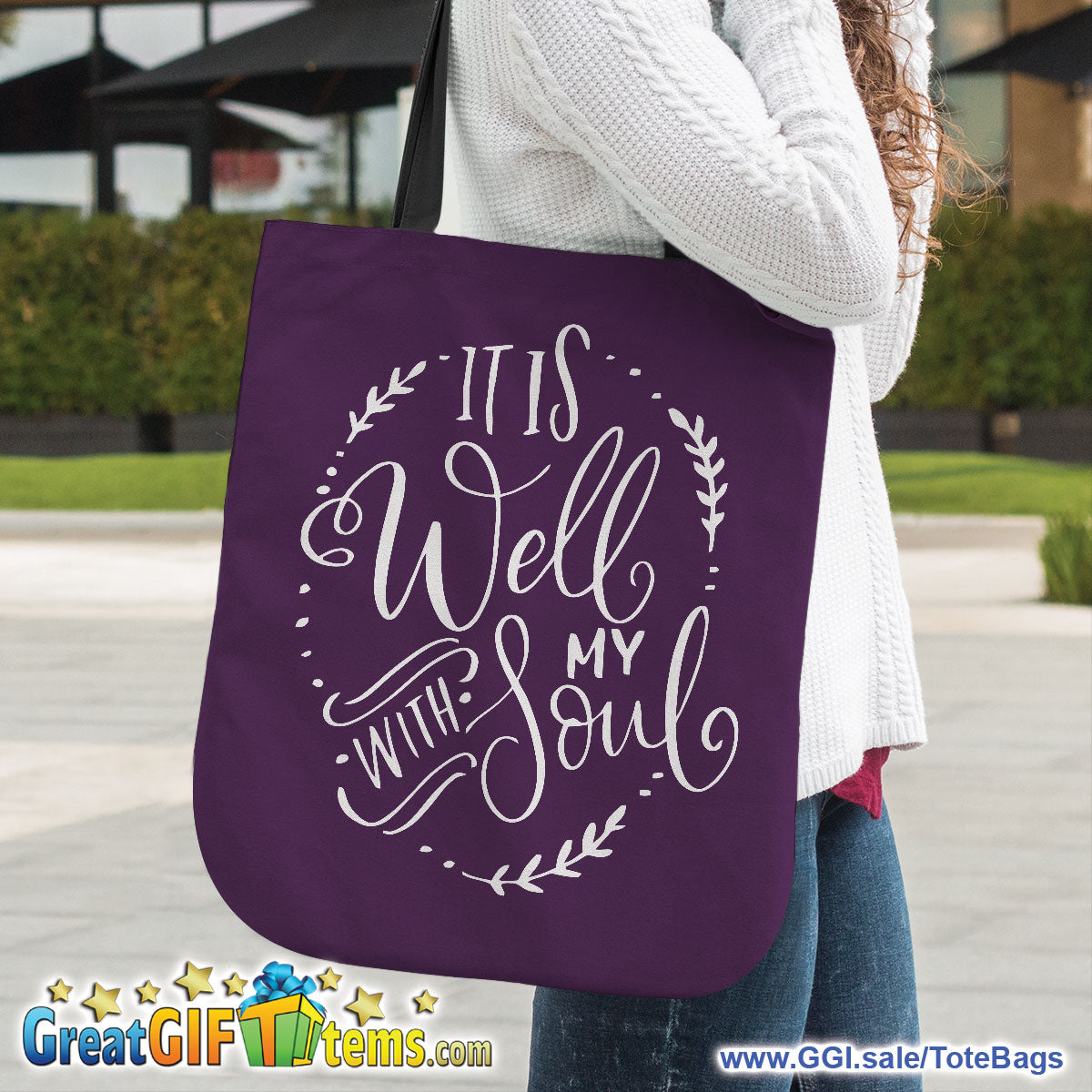 It Is Well With My Soul Canvas Tote Bag