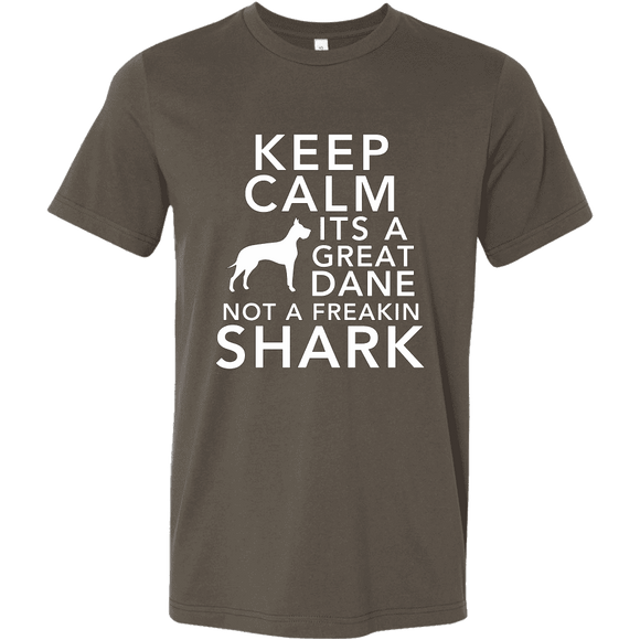 + Keep Calm Its A Great Dane Not A Freakin Shark T-shirt - GreatGiftItems.com