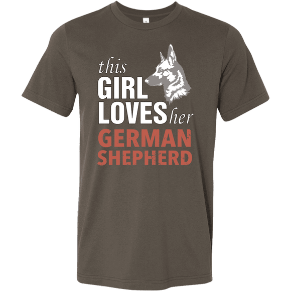 + This Girl Loves her German Shepherd T-Shirt - GreatGiftItems.com