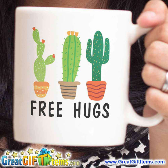 Free Hugs Cute Coffee Mug For That Special Someone - GreatGiftItems.com