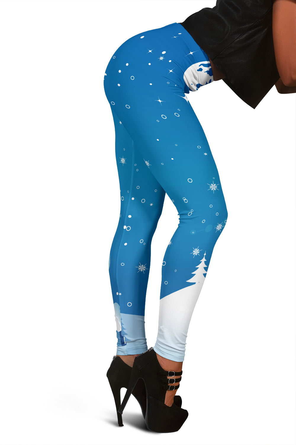 Christmas Leggings For Women With Santa Clause & Reindeer