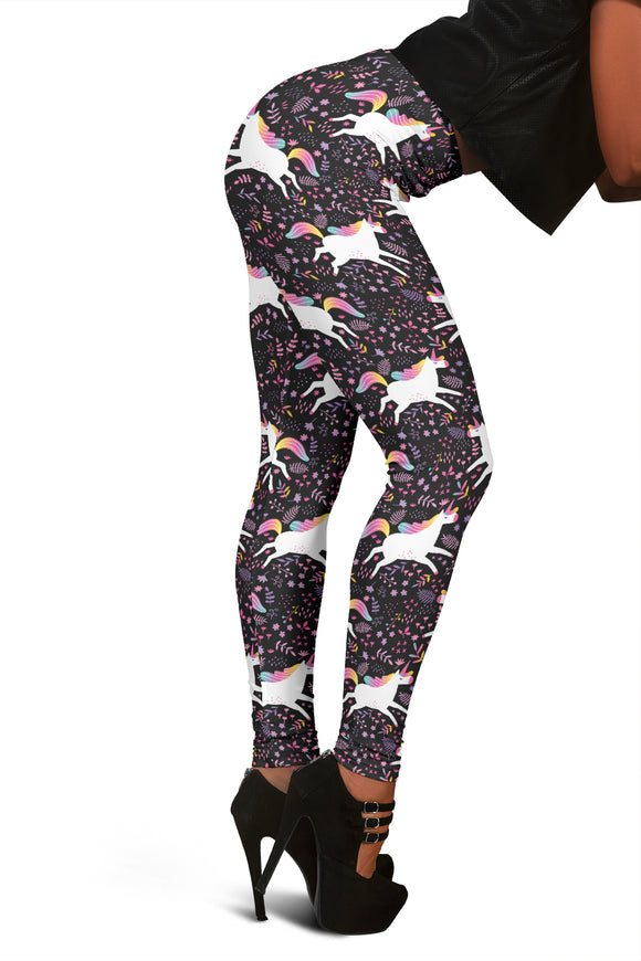 # New Women's Unicorn Leggings Rainbow Color