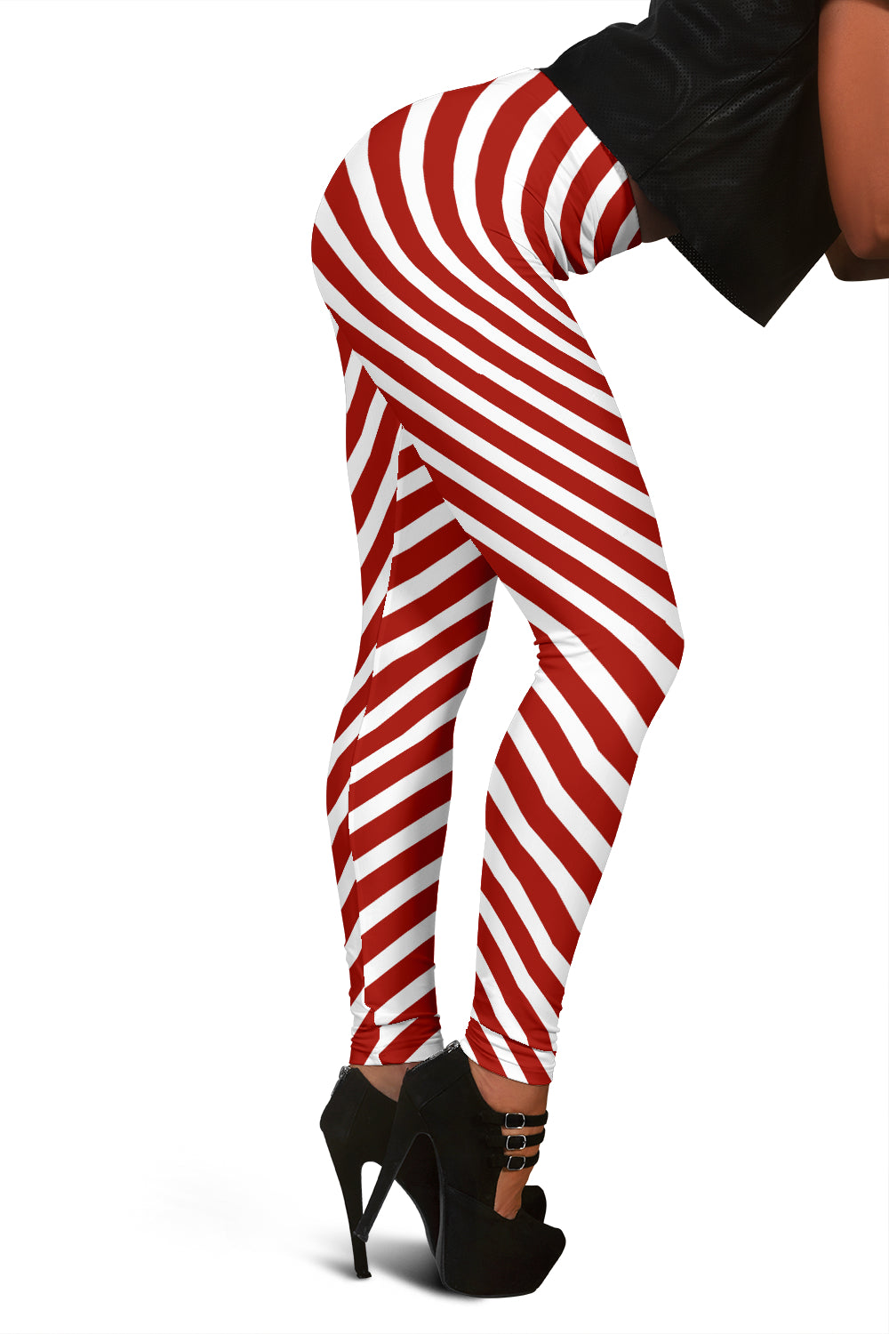 Christmas Candy Cane Leggings For Women Who Love Dressing Up