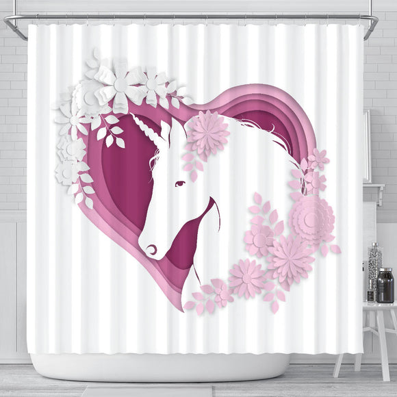 # Unicorn Shower Curtain
