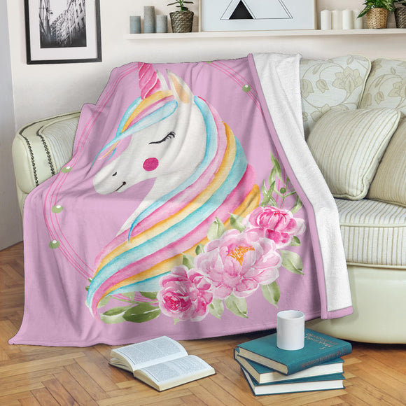 # Unicorn Blanket Made From Ultra Soft Fleece