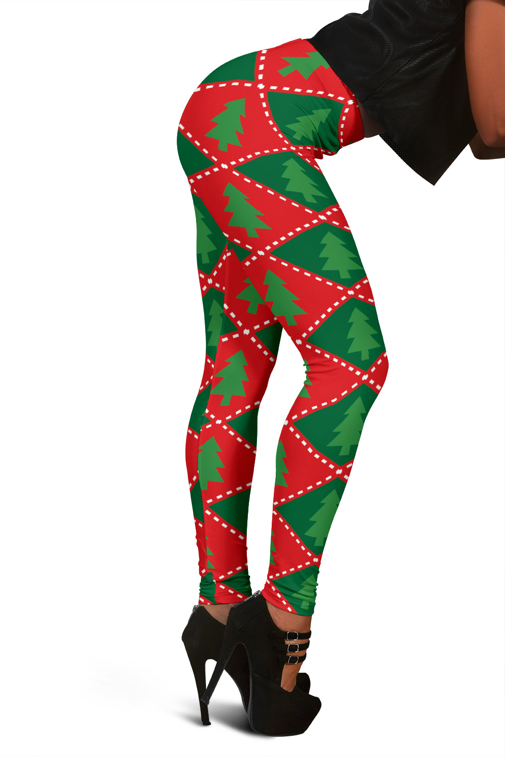 Christmas Plaid Leggings For Women Who Love Christmas Time