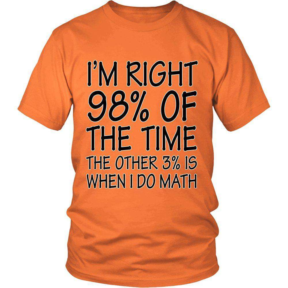 I'm Right 98% Of The Time The Other 3% Is When I Do Math - GreatGiftItems.com