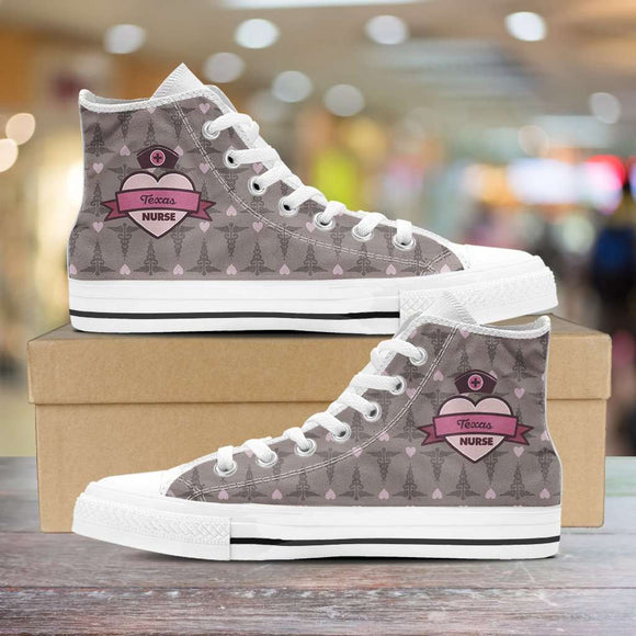 Lady's Coco Texas Nurse Canvas High Tops