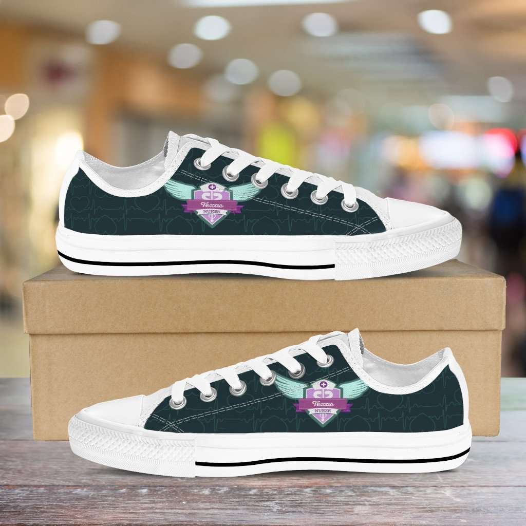 Lady's Green Texas Nurse Canvas Low Top