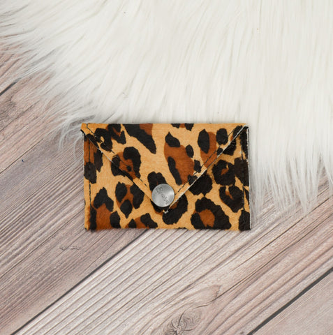 Leopard Hide Envelope Wallet