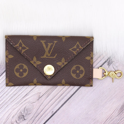 Perfectly Imperfect Ready to Ship Upcycled LV Monogram Large Cuff Bracelet in XXS