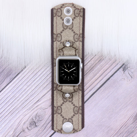 Ready to Ship Limited Edition GG Apple Watch Bow Band in Vanilla Cream in XXS 38/40mm