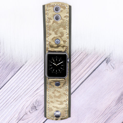 Ready to Ship LV Skinny Apple Watch Lined in Leopard Band in XXS 38/40mm
