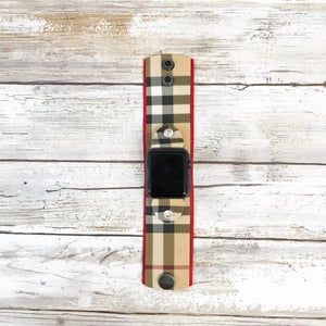 Upcycled Burberry Medium Apple Watch Cuff