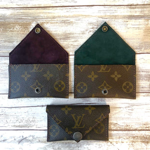 Limited Edition Upcycled LV Lined Envelope Wallet