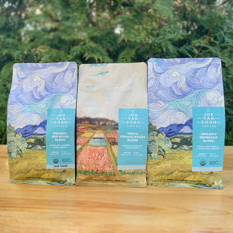 Dark Roast Set (ORG Red River, ORG Espresso, Kenya French Roast: 12oz)