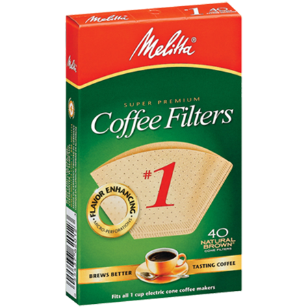 Melitta Natural Brown Coffee Filters #1