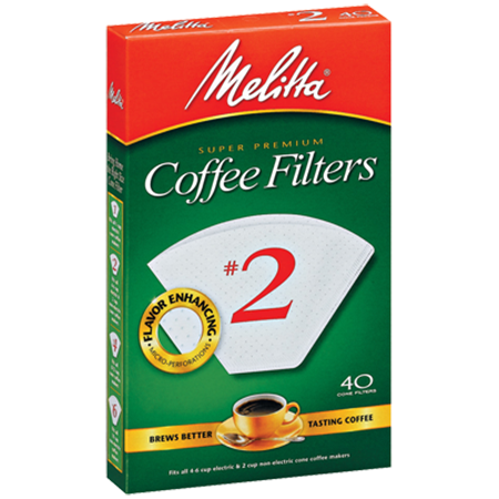 Melitta White Coffee Filters #2
