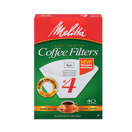 Melitta White Coffee Filters #4
