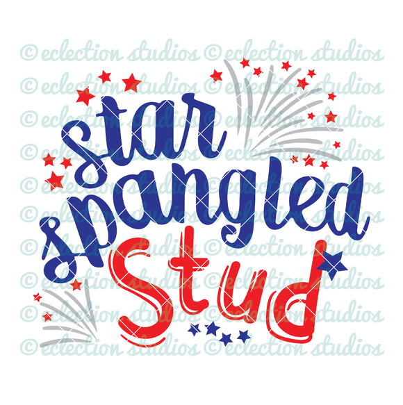 Star Spangled Stud 4th of July SVG