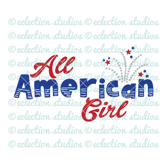 All American Girl 4th of July SVG