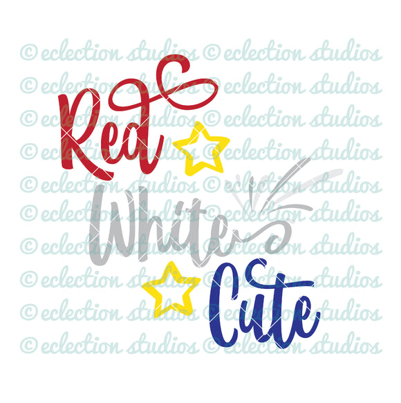 Red White Cute 4th of July SVG