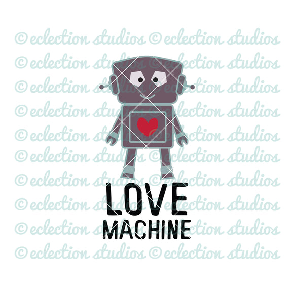 Love Machine Robot SVG