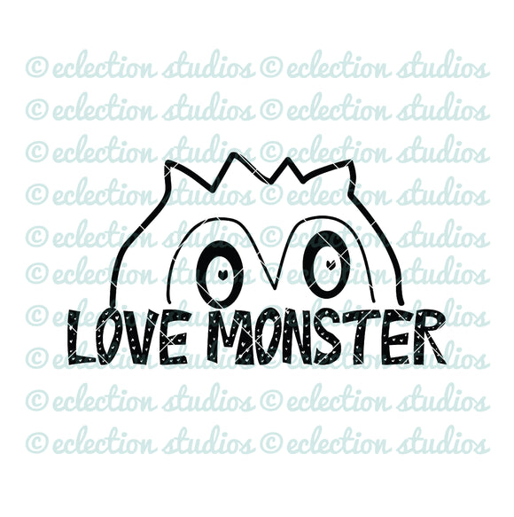 Love Monster Valentine SVG