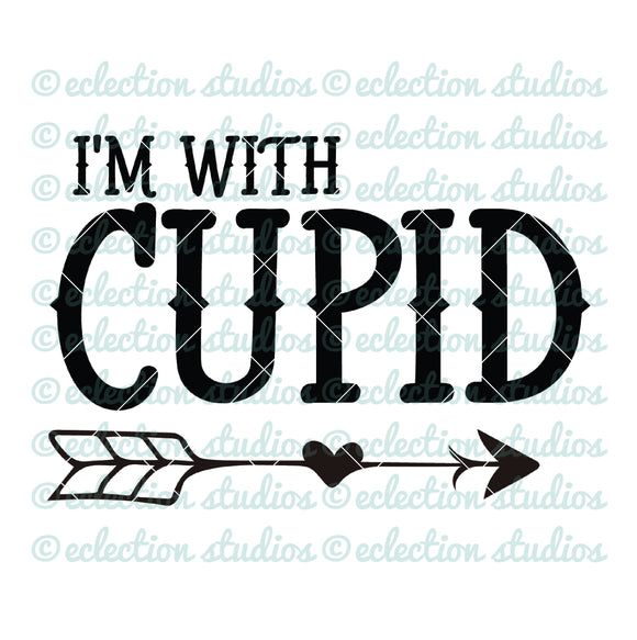 I'm with Cupid arrow SVG