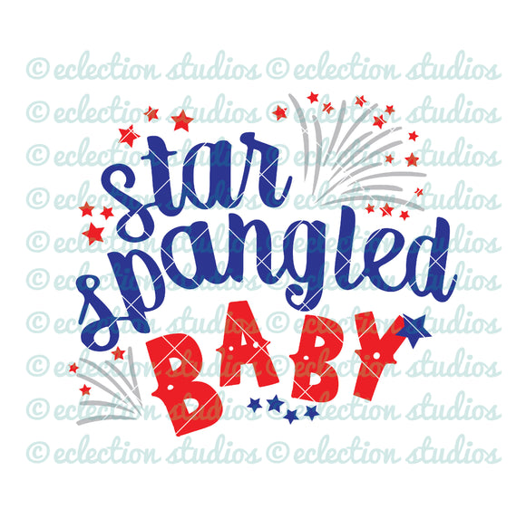 Star Spangled Baby 4th of July SVG