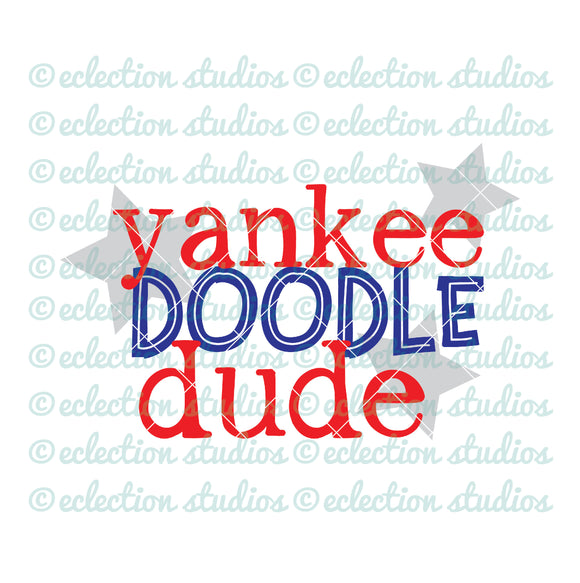 Yankee Doodle Dude 4th of July SVG