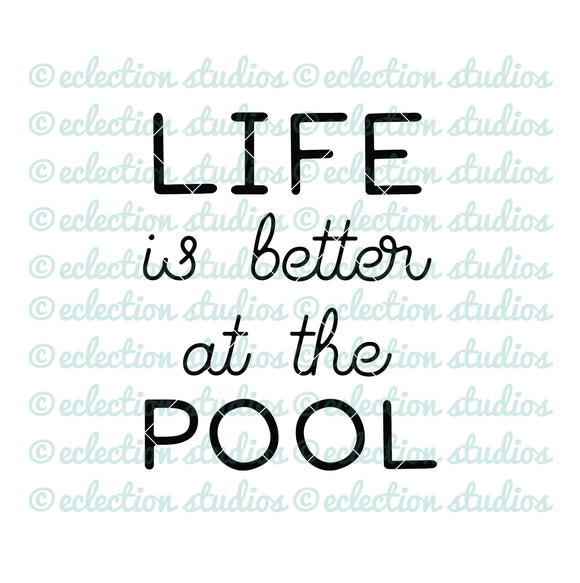 Life is better at the POOL SVG
