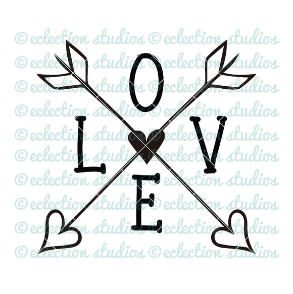 LOVE Arrows SVG