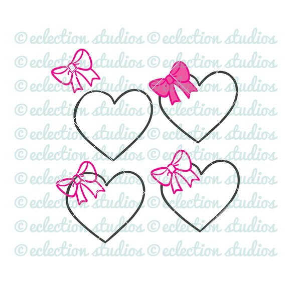 Valentine's Day heart with bow SVG