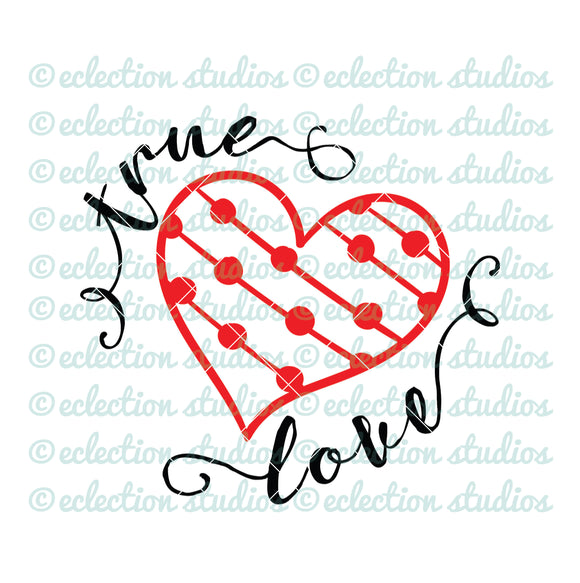 True Love Valentine's Day heart SVG